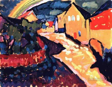 Purely Abstract Painting - Murnau with rainbow Abstract