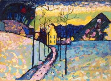 Winter Landscape Abstract Oil Paintings
