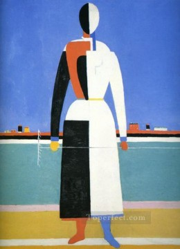 Artworks in 150 Subjects Painting - woman with rake Kazimir Malevich abstract
