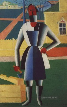 Artworks in 150 Subjects Painting - carpenter 1929 Kazimir Malevich abstract