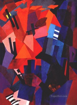 Purely Abstract Painting - cityscape composition 1916 Alexandra Exter abstract