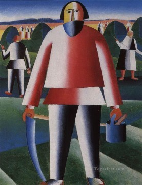 Purely Abstract Painting - haymaking 1929 Kazimir Malevich abstract