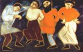 peasants dancing abstract