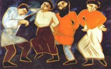 Dancing Art - peasants dancing abstract