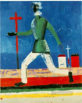 Purely Abstract Painting - the running man 1933 Kazimir Malevich abstract