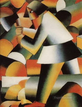 Purely Abstract Painting - woodcutter Kazimir Malevich abstract