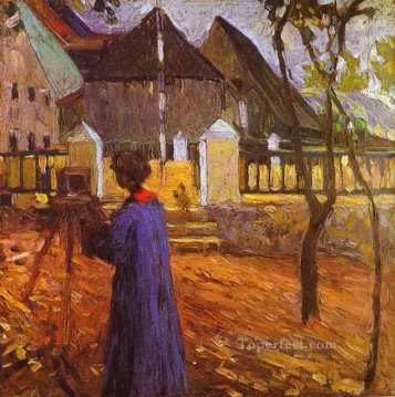Purely Abstract Painting - Gabriele Munter painting Abstract