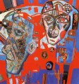 two heads 1925 Pavel Filonov abstract