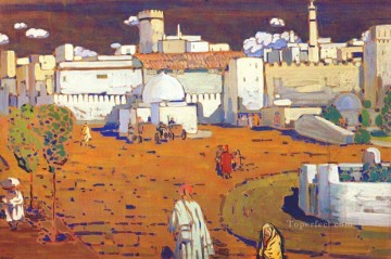 Purely Abstract Painting - Arab Town Abstract
