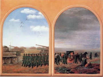 applied dialectics 1945 Surrealist Oil Paintings