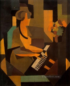 georgette at the piano 1923 Surrealist Oil Paintings