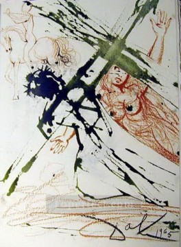 jesus christ Painting - Jesus carrying the cross Surrealist