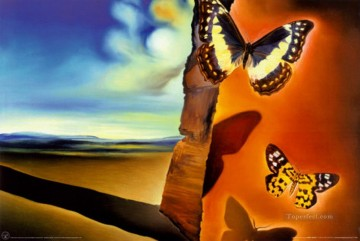 Surrealism Painting - Landscape with Butterflies Surrealist