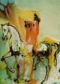 The Christian Knight s Horses Surrealist