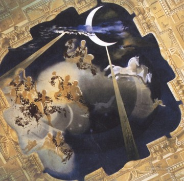 Ceiling of the Hall of Gala s Chateau at Pubol Surrealist Oil Paintings