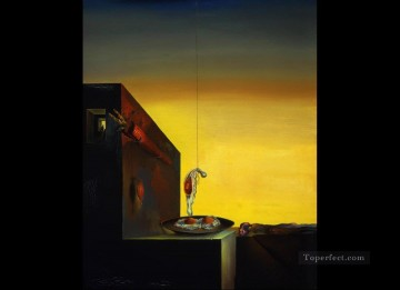 Surrealism Painting - Eggs on Plate without the Flat Surrealist