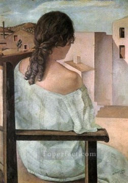 Abstract and Decorative Painting - Girl from the Back 1925 Surrealist