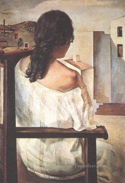 Girl from the Back 1925i Surrealist Oil Paintings
