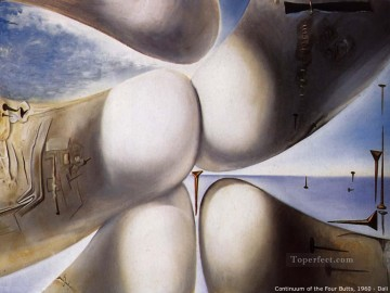 Surrealism Painting - Goddess Leaning on Her Elbow Continuum of the Four Buttocks or Five Rhinoceros Horns Making a Virgin or Birth of a Deity Surrealist