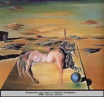 Surrealist Works - Invisible Sleeping Woman Horse Lion Surrealist