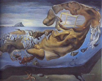 Rhinocerotic Figure of Phidias Illisos Surrealist Oil Paintings