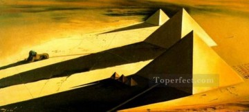 realism realist Painting - The Pyramids and the Sphynx of Gizeh 1954 Surrealist