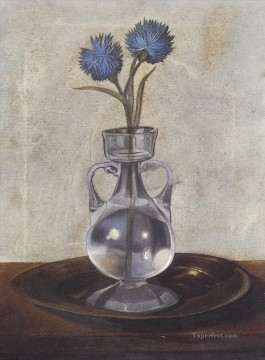 The Vase of Cornflowers Surrealist Oil Paintings