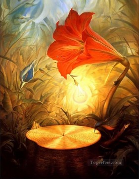 modern contemporary 03 surrealism tulip flower Oil Paintings