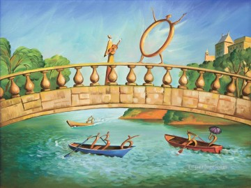 Surrealism Painting - modern contemporary 13 surrealism rowing