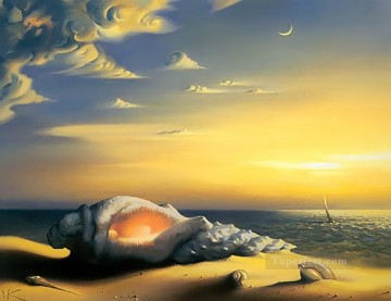 Surrealism Painting - modern contemporary 27 surrealism shell on beach