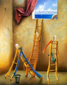 modern contemporary 32 surrealism ladder Oil Paintings