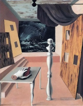 the difficult crossing 1926 Surrealist Oil Paintings