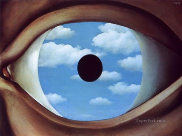 the false mirror 1928 Surrealist Oil Paintings