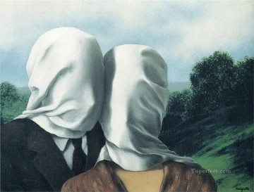 the lovers 1928 Surrealist Oil Paintings