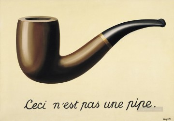 the treachery of images this is not a pipe 1948 2 Surrealist Oil Paintings