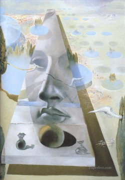 Apparition of the Visage of Aphrodite of Cnidos in a Landscape Surrealism Oil Paintings