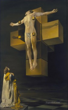Abstract and Decorative Painting - Crucifixion Corpus Hypercubicus Surrealism