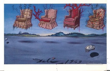 Surrealism Painting - Four Armchairs in the Sky Surrealism