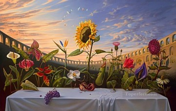 Artworks in 150 Subjects Painting - Last Supper of flowers surrealism