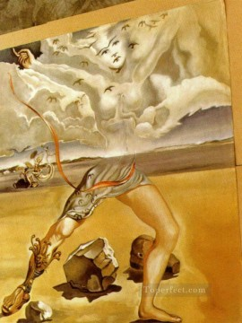 Mural Painting for Helena Rubinstein Surrealism Oil Paintings