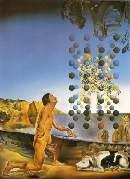 Nude in Contemplation Before the Five Regular Bodies Surrealism Oil Paintings