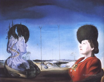 Portrait of Mrs Isabel Styler Tas 1945 Surrealism Oil Paintings