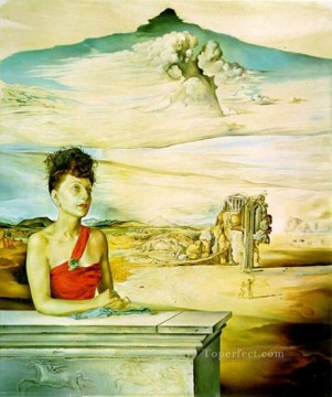 Portrait of Mrs Jack Warner 1951 Surrealism Oil Paintings