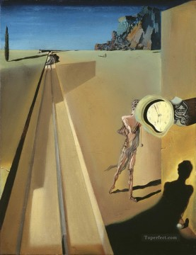 Surrealism Painting - Premature Ossification of a Railway Station Surrealism