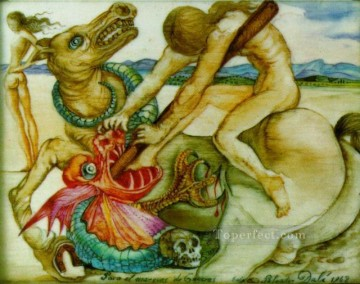 dragon Painting - Saint George and the Dragon Surrealism