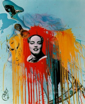 Abstract and Decorative Painting - Self Portrait Photomontage with the famous Mao Marilyn that Philippe Halsman created at s wish Surrealism