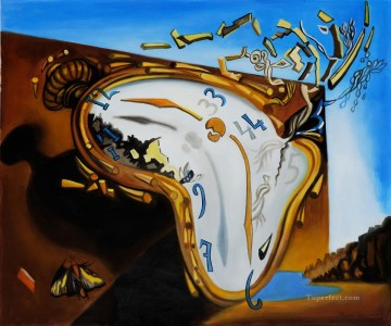 Soft Watch at the Moment of Explosion Surrealism Oil Paintings