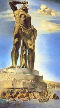 The Colossus of Rhodes 1954 Surrealism Oil Paintings