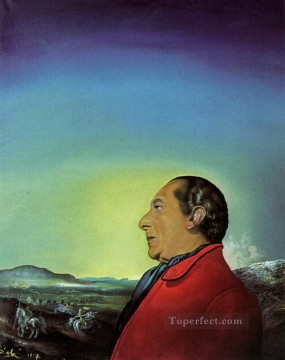 The Duke of Urbino Portrait of Count Theo Rossi Di Montelera 1957 Surrealism Oil Paintings