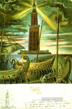 The Lighthouse at Alexandria Surrealism Oil Paintings